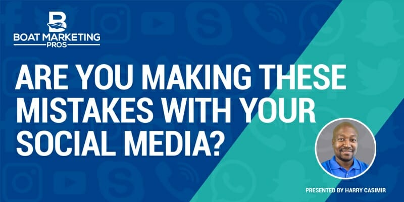 """""""Are you making these mistakes with your social media?"""" Webinar. Presented by Harry Casimir"""